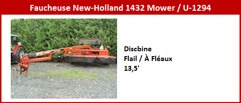 Faucheuse New Holland 1432